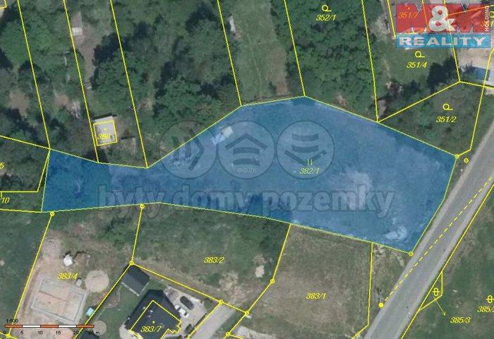 Katastrální mapa (Prodej, pozemek, 2749 m2, Třemošná - Záluží), foto 1/7