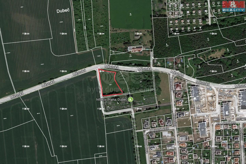Prodej, pozemek, 4366 m2, Praha - Dubeč