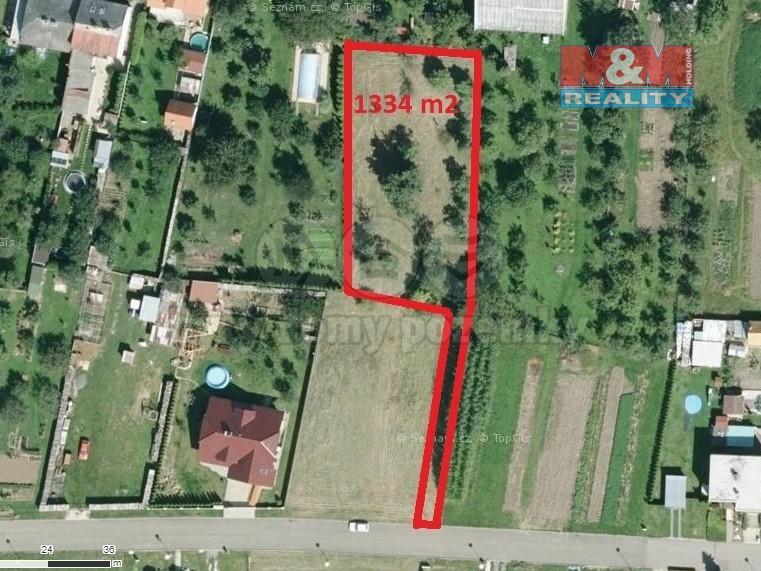 Prodej, pozemek, 1334 m2, Roštění u Holešova