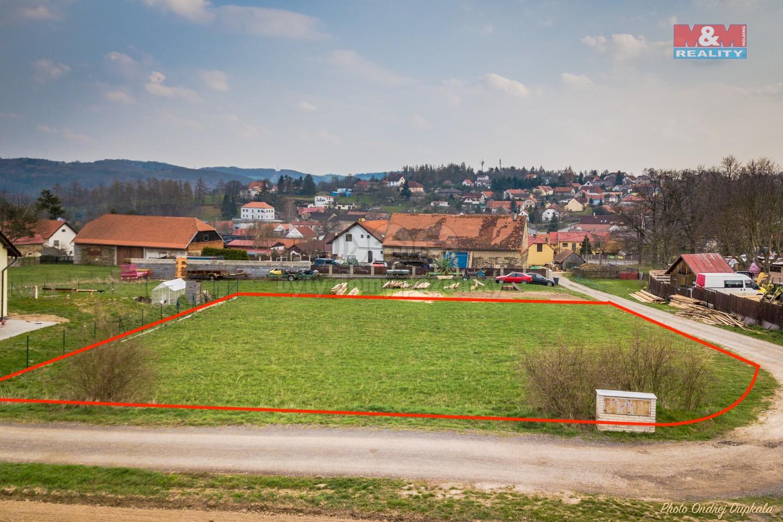 Prodej, stavební pozemek, 1426 m2, Okrouhlo - Praha západ