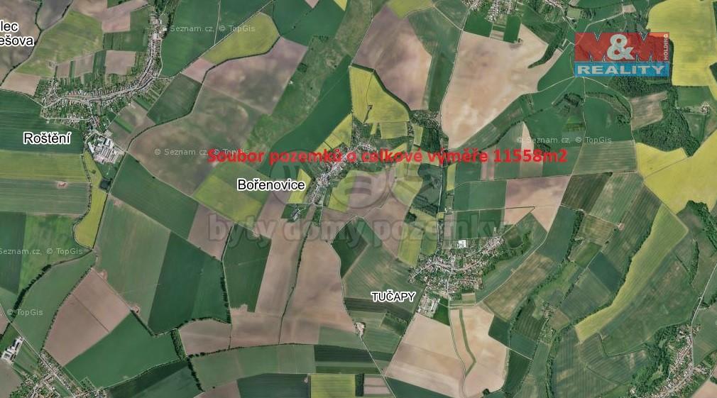 Prodej, pole, 11558 m², Bořenovice