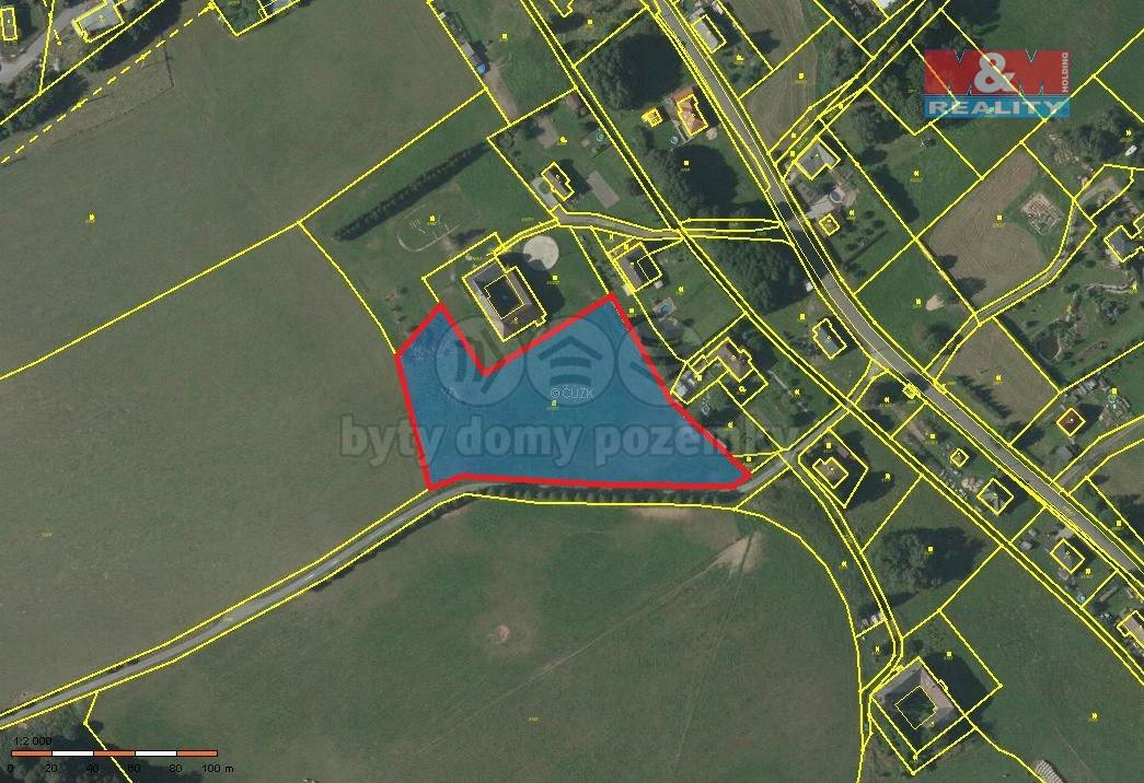 Prodej, stavební pozemek, 9582 m2, Ostrov u Lanškrouna