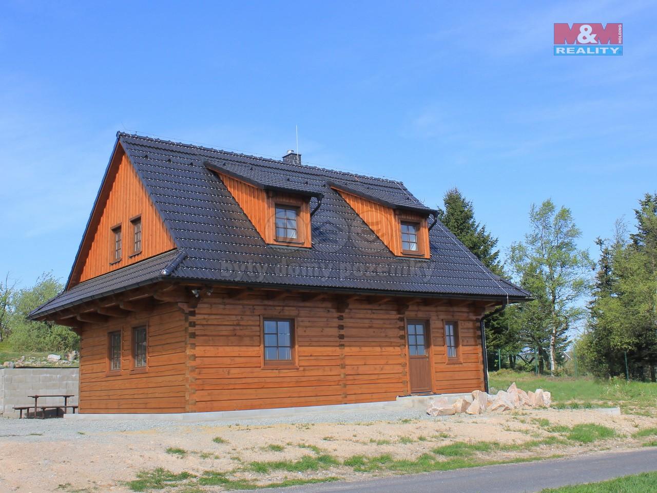 pohled na chalupu (Prodej, chalupa 4+kk, 1300 m2, Cínovec), foto 1/30