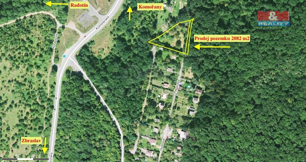Prodej, pozemek, 2082 m2, Praha 4 - Komořany