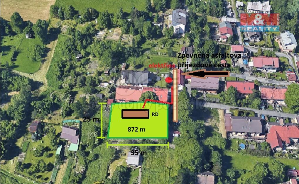 Prodej, stavební pozemek, 872 m2, Ostrava - Slezská Ostrava