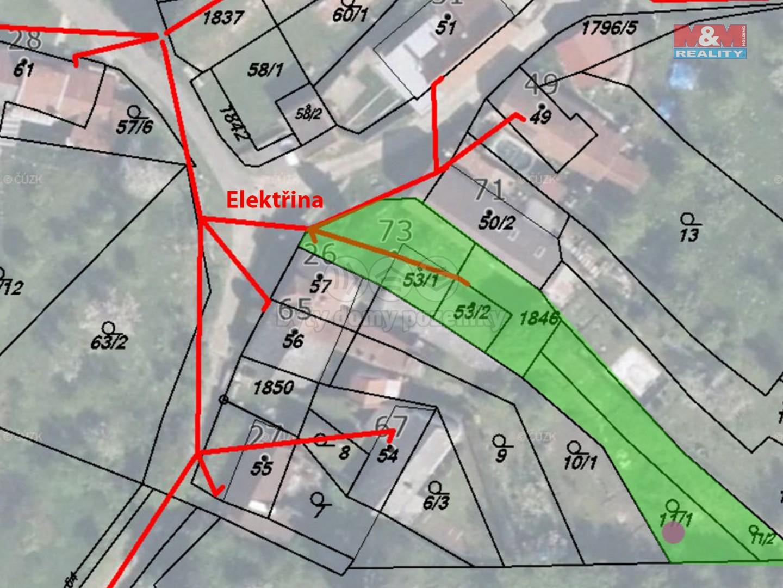 Prodej, stavební parcela, 635 m2, Koryčany - Lískovec