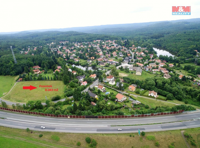 Prodej pozemek o celkové ploše 8083 m2, Voznice u Dobříše (Prodej, pozemek, 8083 m2, Voznice u Dobříše), foto 1/4