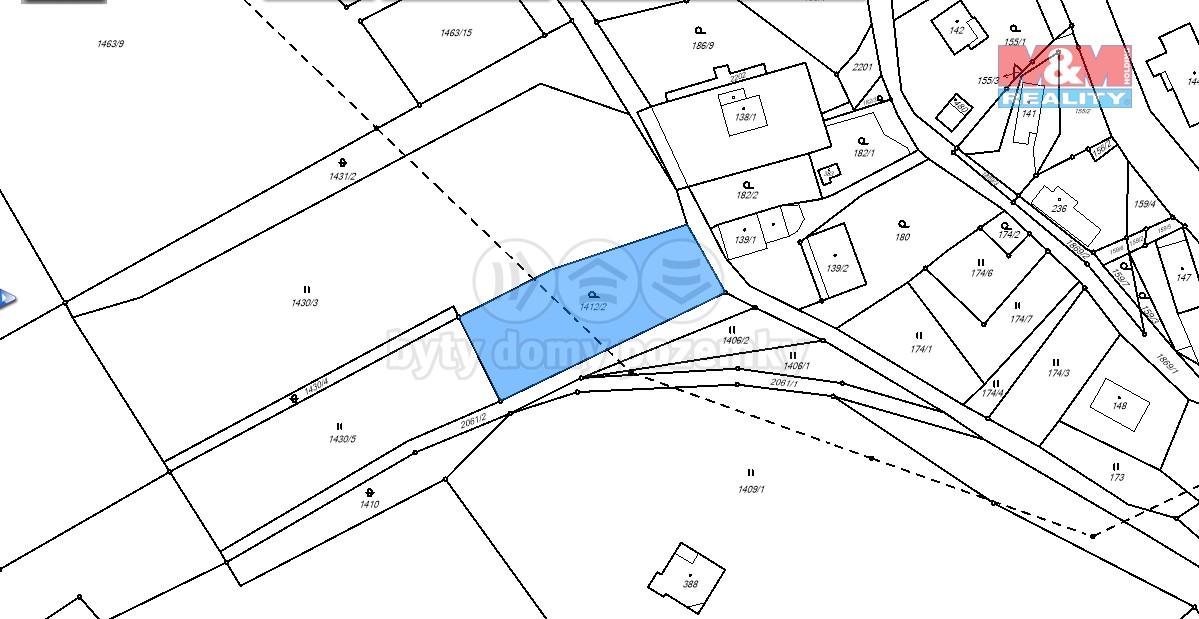 katastrální mapa (Prodej, pozemek, 1569 m2, Horní Libchava), foto 1/13
