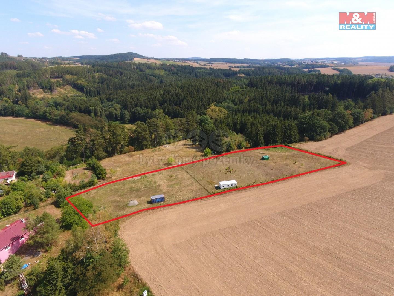 Prodej, stavební pozemek 6.056 m2, Ctiboř, okr. Benešov