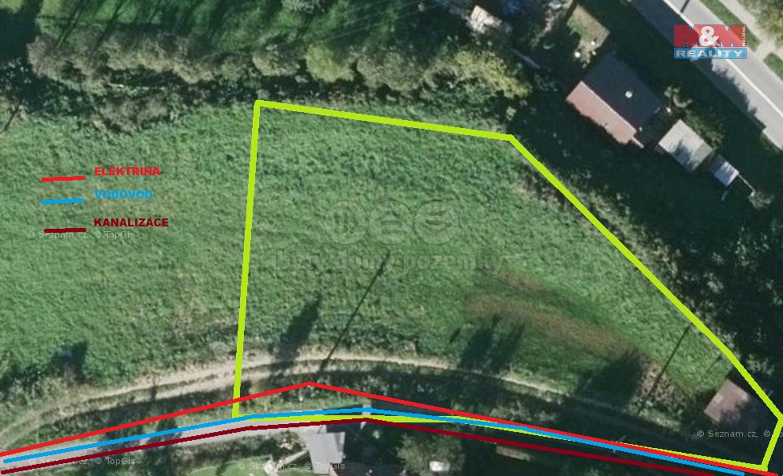 Prodej, stavební pozemek, 1400 m2, Bystřička