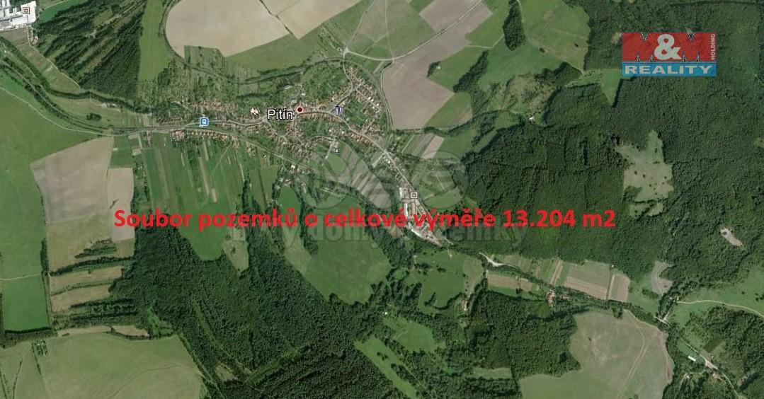 Prodej, louka, 13204 m2, Pitín