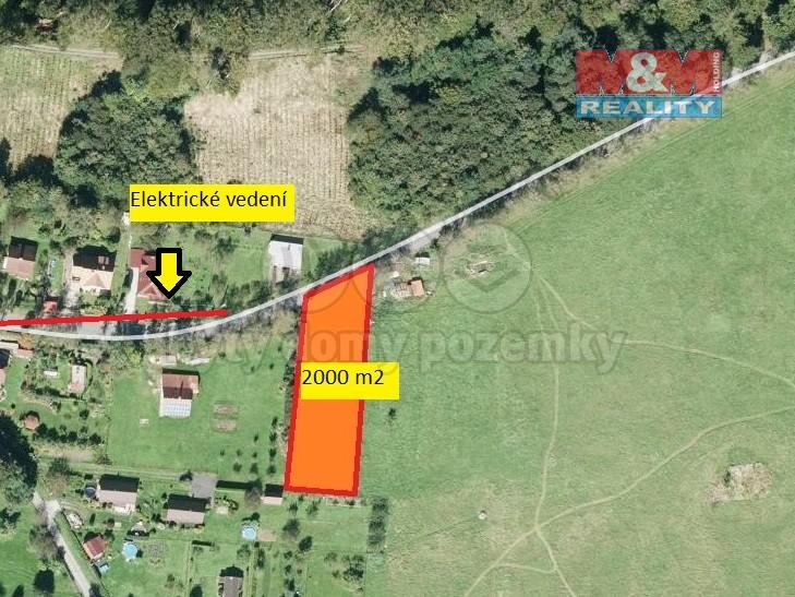 Prodej, stavební pozemek, 2000 m2, Valašské Meziříčí