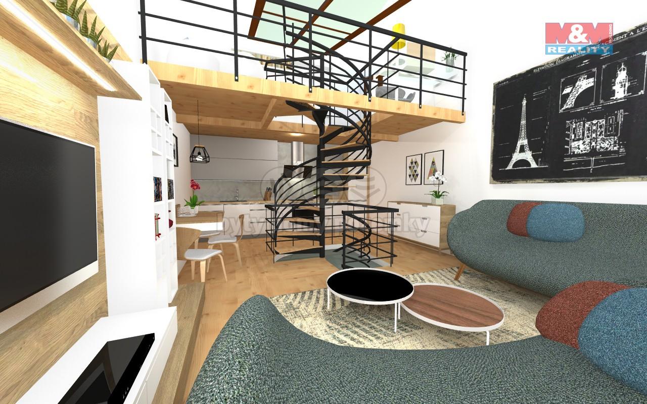 (Prodej, loftový byt 2+kk, 92 m2, Praha 8, ul. Novákových), foto 1/27