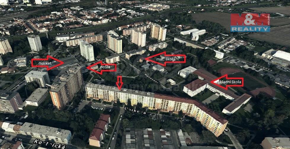 Prodej, byt 3+1, 74 m2, Kroměříž