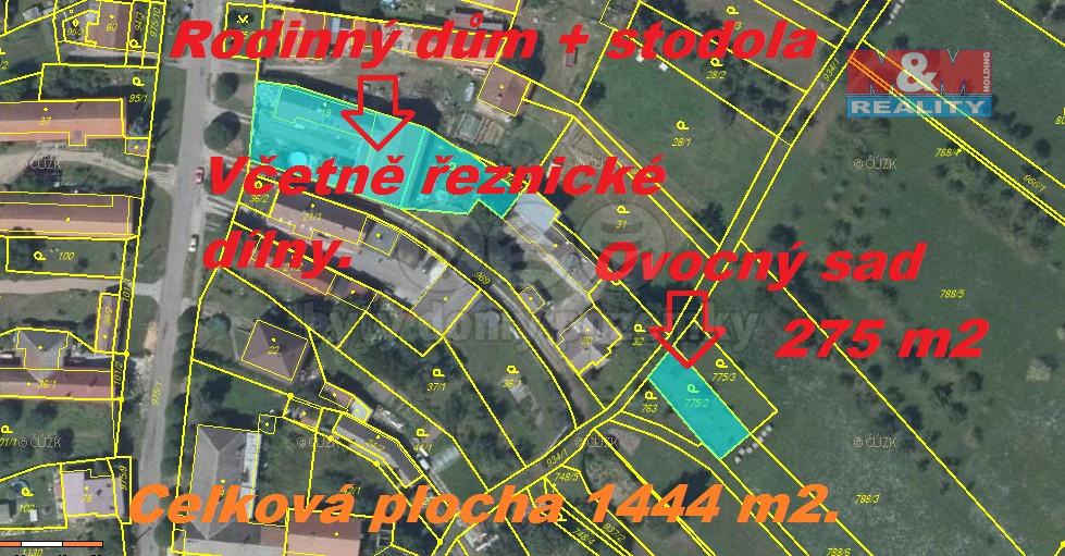 mapa  (Prodej, rodinný dům, Bukovina - Černilov)