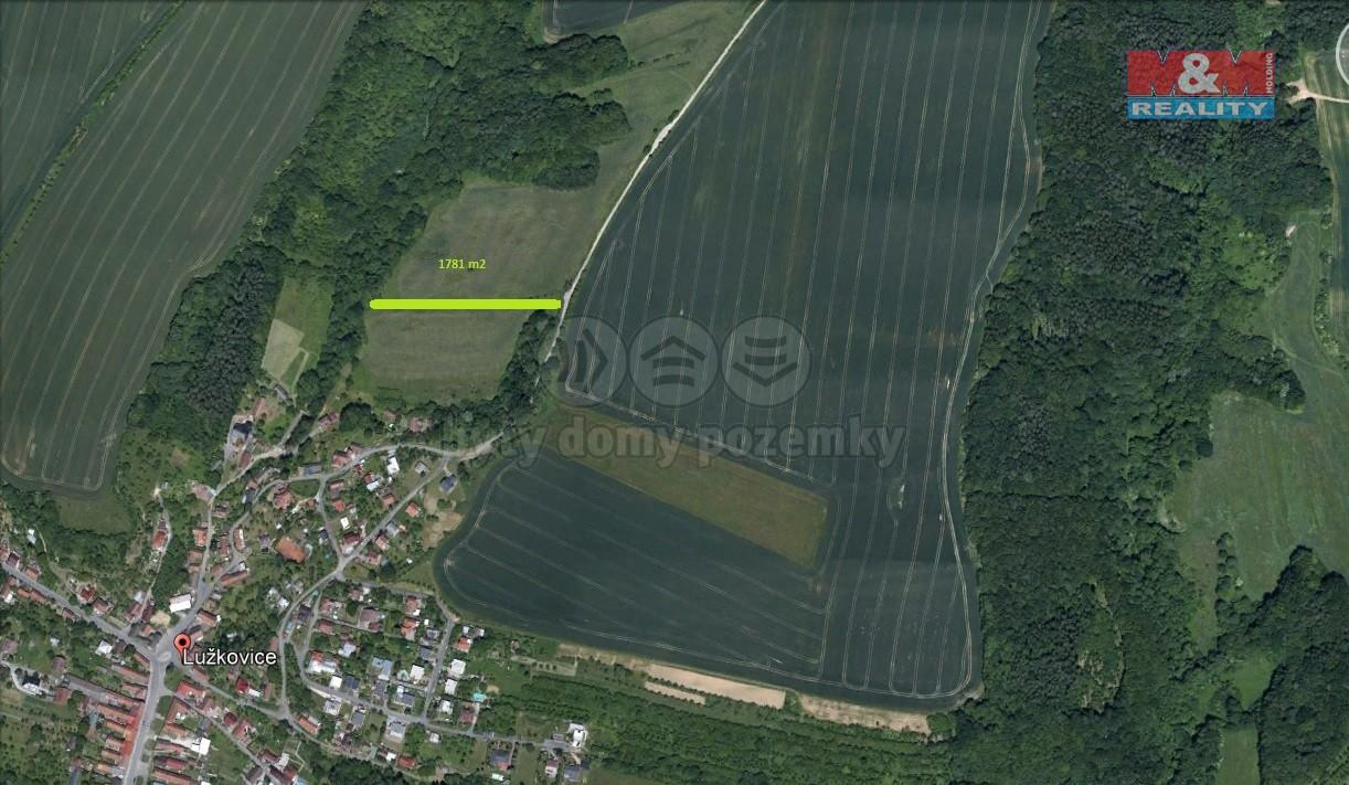 Prodej, pole, 1781 m2, Lužkovice