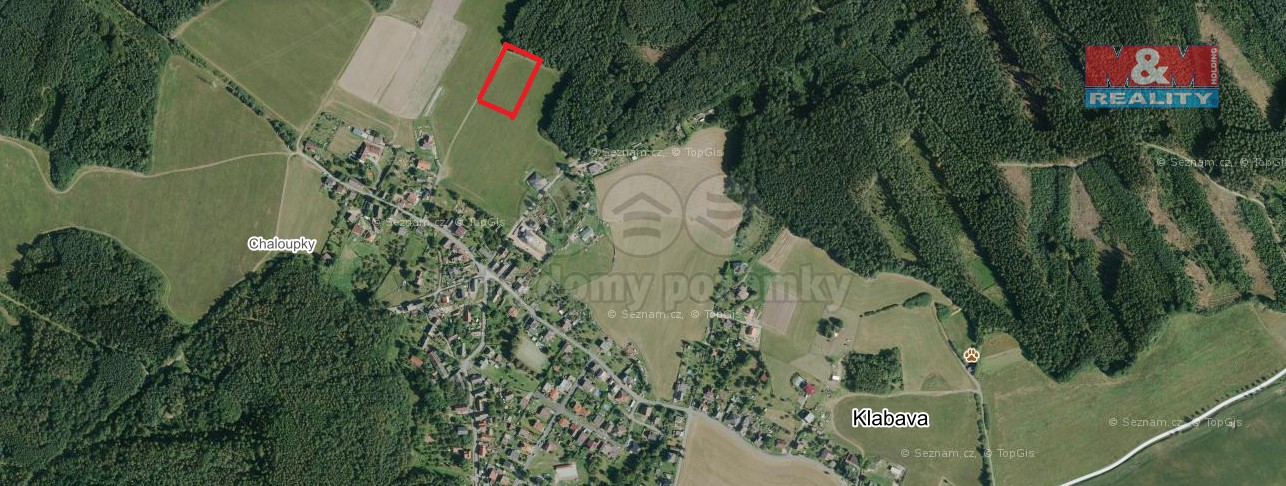 Prodej, stavební pozemek, 4493 m2, Klabava