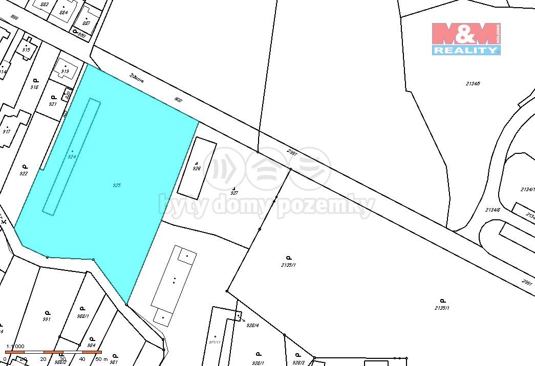 Prodej, pozemek, 6380 m2, Opava - Jaktař