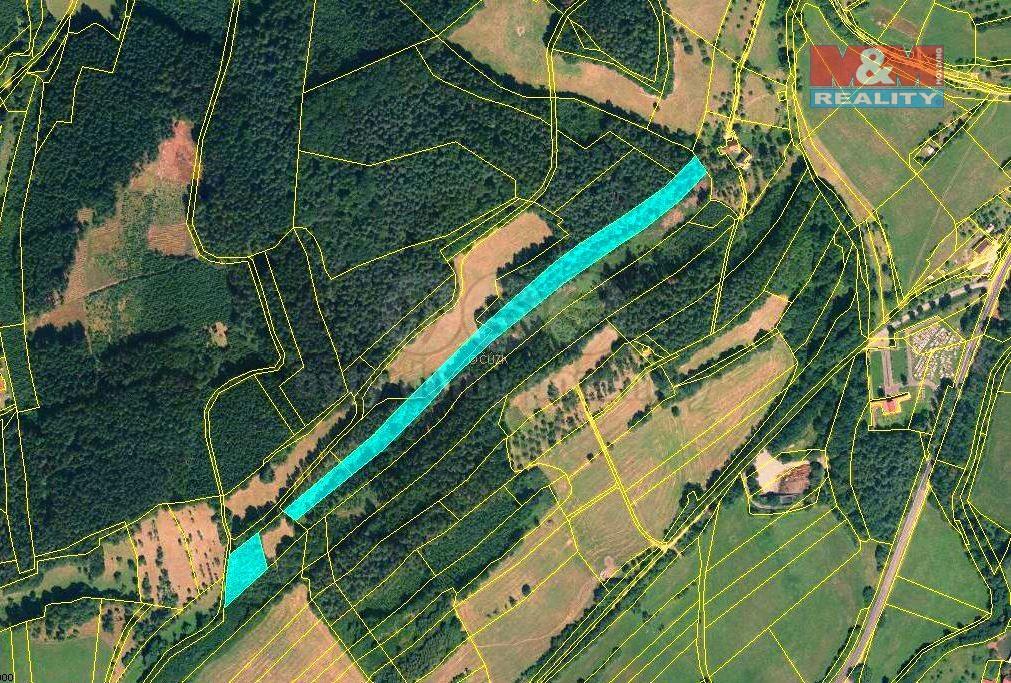 Prodej, les, 13453 m2, Zlín-Lutonina