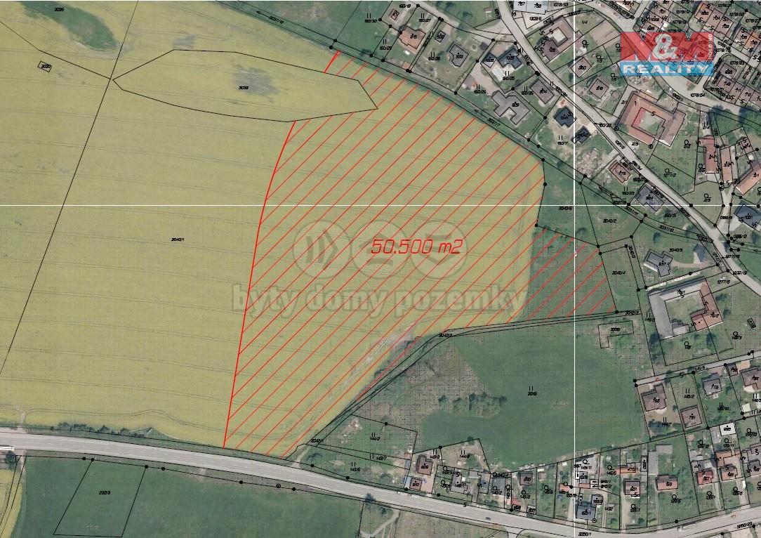 Prodej, stavební pozemek, 50.000 m2, Jindřichův Hradec, Otín