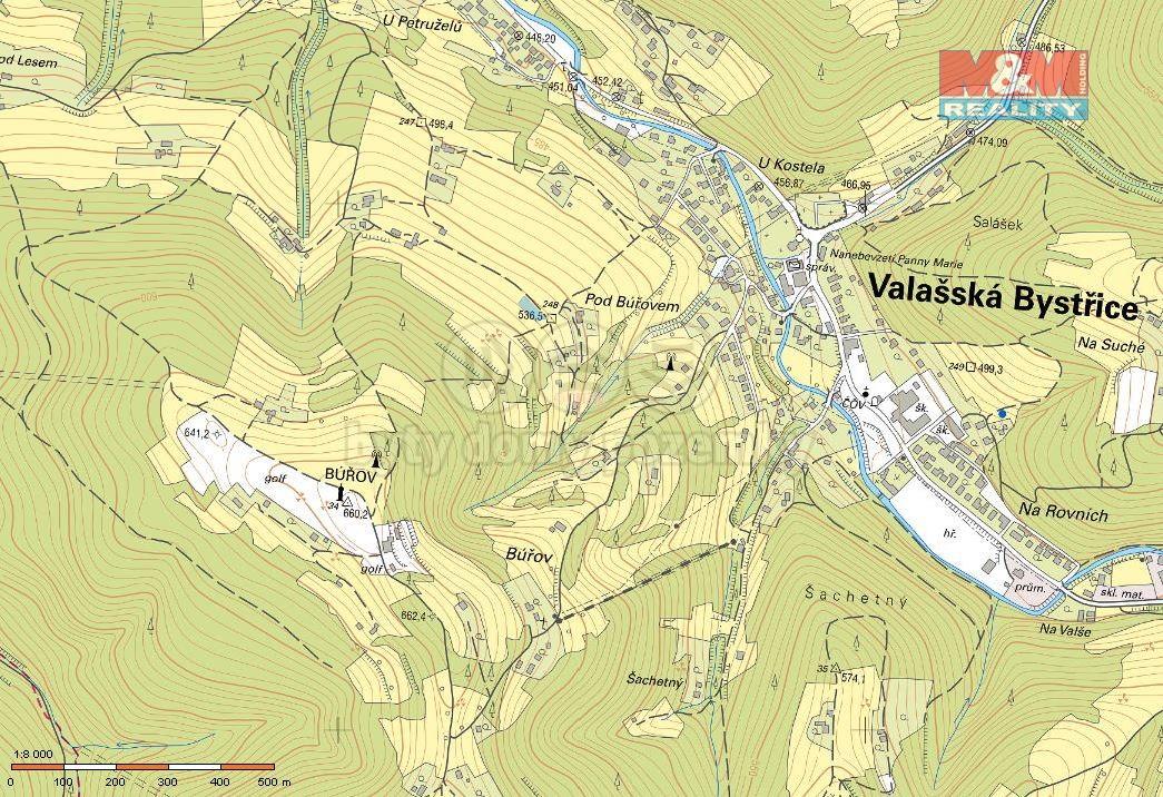 Prodej, pozemek, 952 m2, Valašská Bystřice
