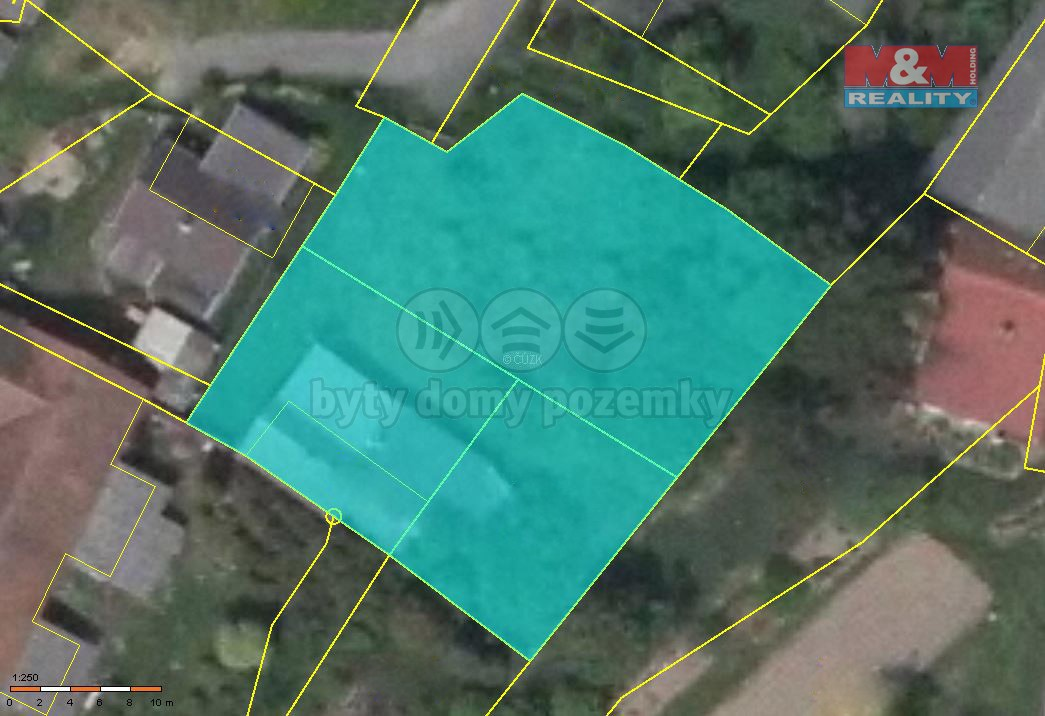 Prodej, pozemek, 833 m2, Hurtova Lhota