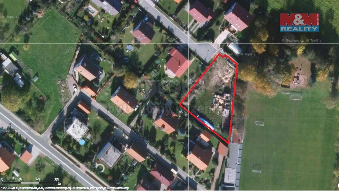 Prodej, stavební parcela, 1249 m2, Dříteč