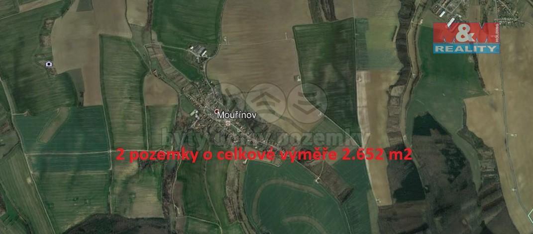 Prodej, pozemek, 2652 m2, Mouřínov