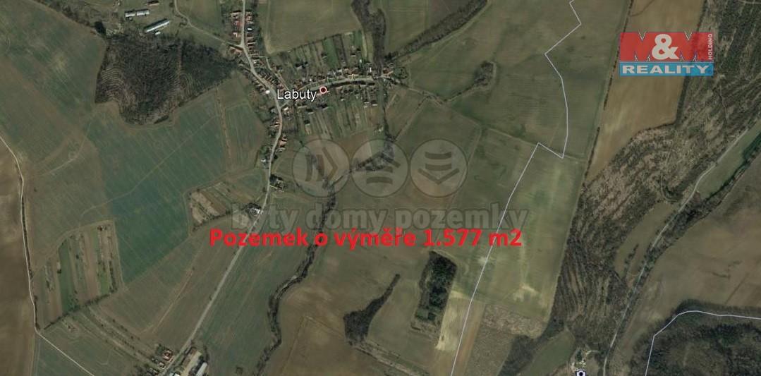 (Prodej, pozemek, 1577 m2, Labuty)
