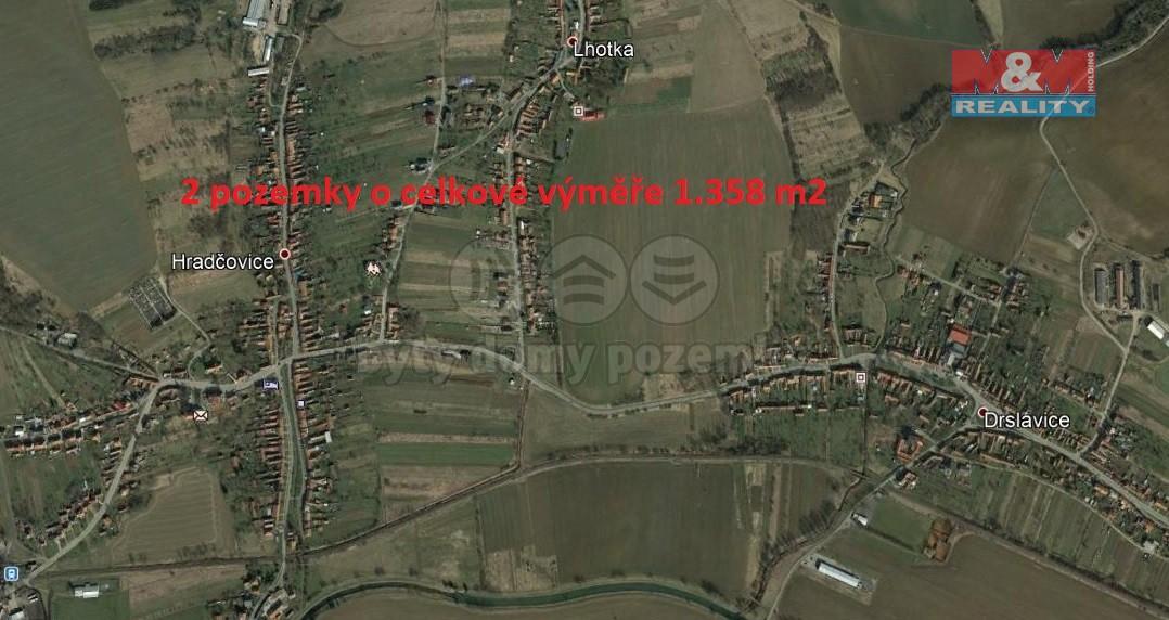 Prodej, pozemek, 1358 m2, Hradčovice