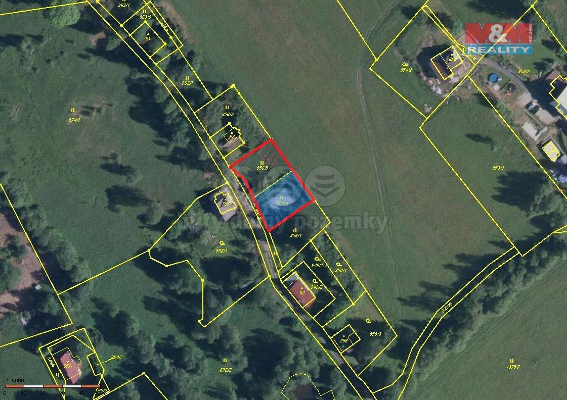 Prodej, stavební parcela, 1000 m2, Bublava