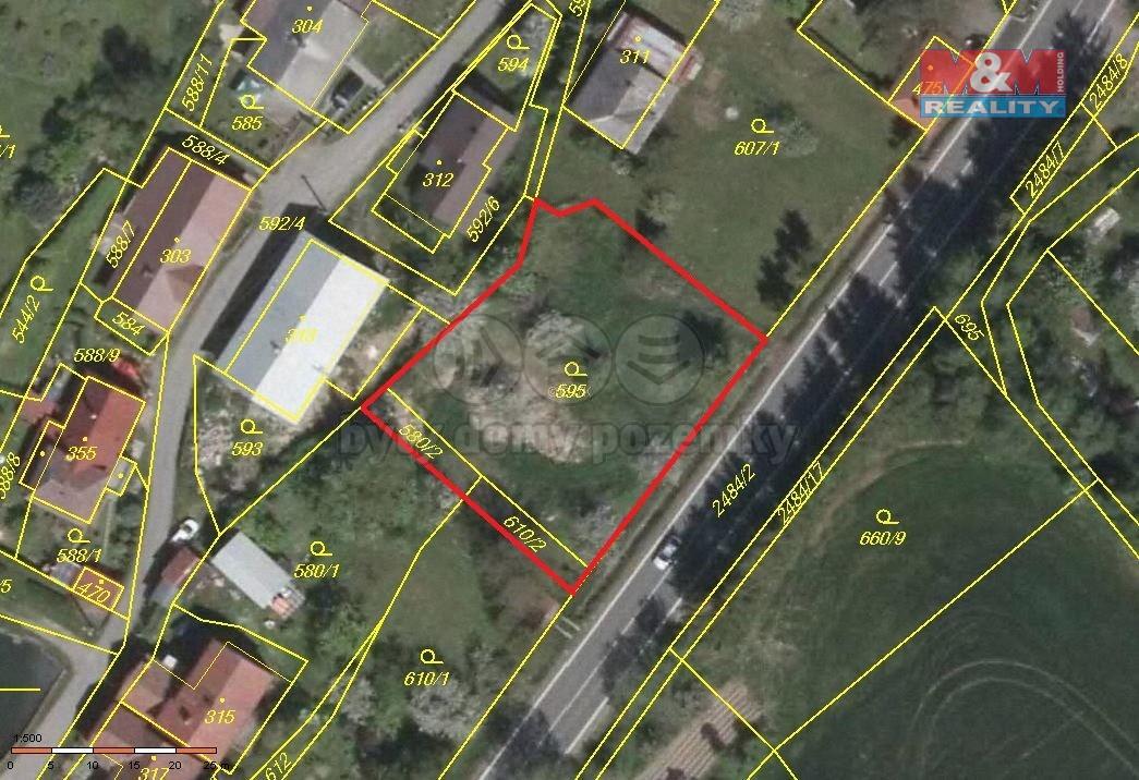 Prodej, stavební pozemek, 1141 m2, Holetín