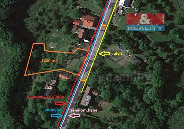Prodej, stavební pozemek, 1400 m2, Mštěnovice