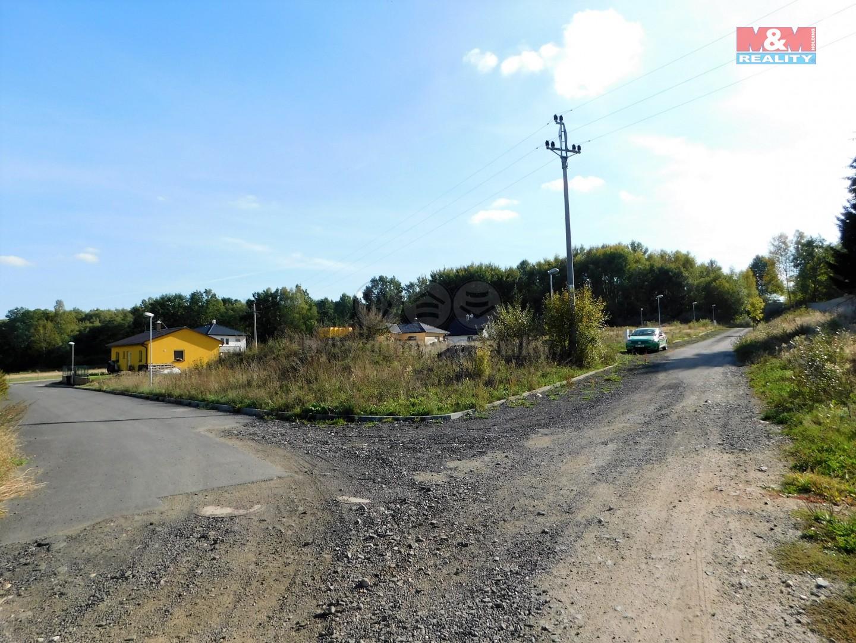 Prodej, stavební parcela, 1028 m2, Pomezí nad Ohří