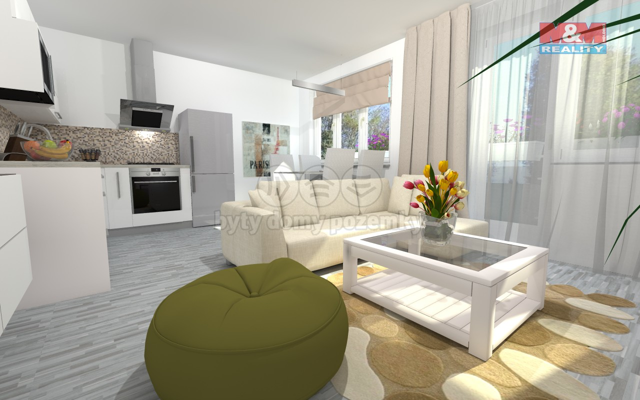 Prodej, byt 3+kk, 70 m2, Štěpánov u Olomouce, zahrada
