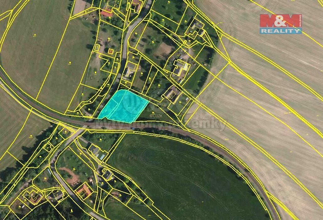 Prodej, stavební parcela, 2945 m2, Trpík