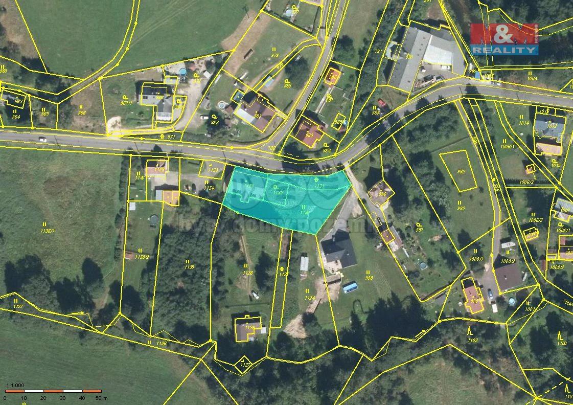 Prodej, stavební parcela, 1518 m2, Smržovka, ul. Údolní
