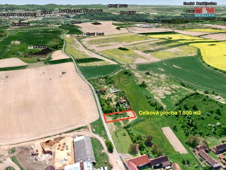 Prodej, pozemek, 1500 m2, Dobev, Velké Nepodřice