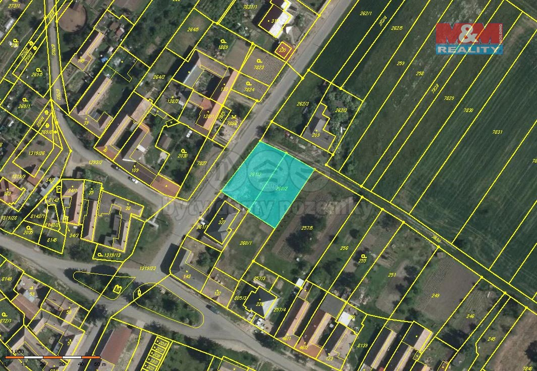 Prodej, pozemek, 1175 m2, Křídlůvky