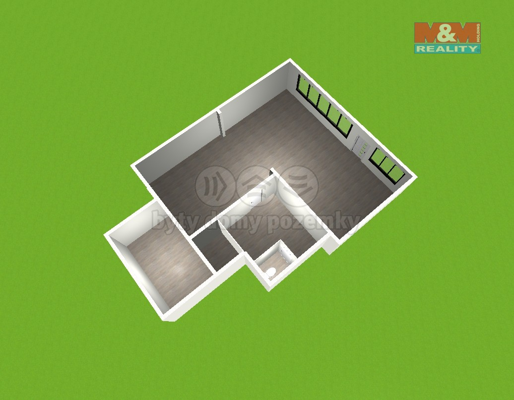 (Pronájem, komerční prostory, 119 m2, Třinec, ul. Poštovní), foto 1/3