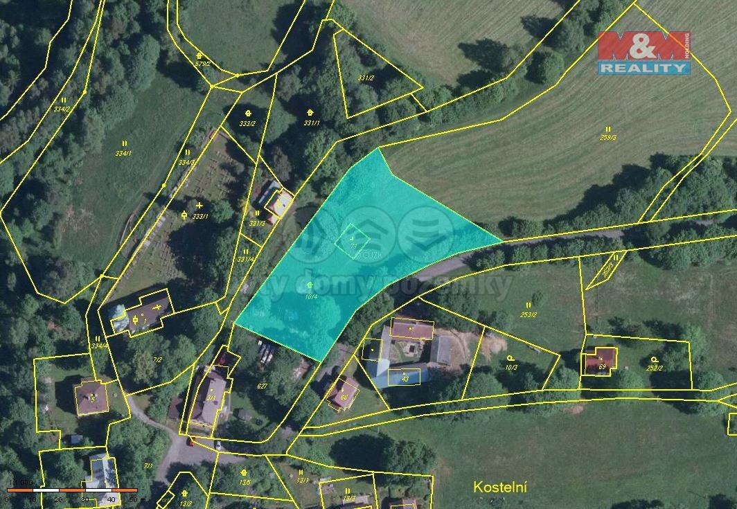 Prodej, pozemek, 3260 m2, Kraslice - Kostelní