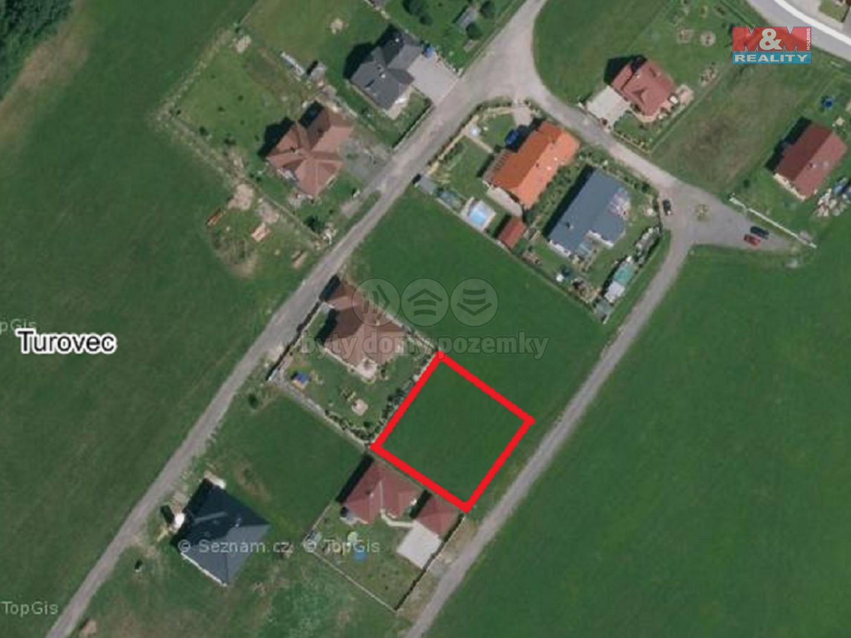 Prodej, stavební parcela, 940 m2, Turovec