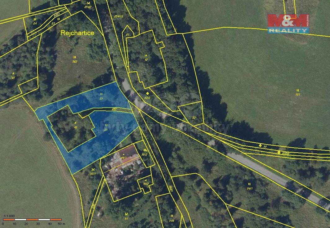 Prodej, pozemek, 2894 m2, Dvorce - Rejchartice