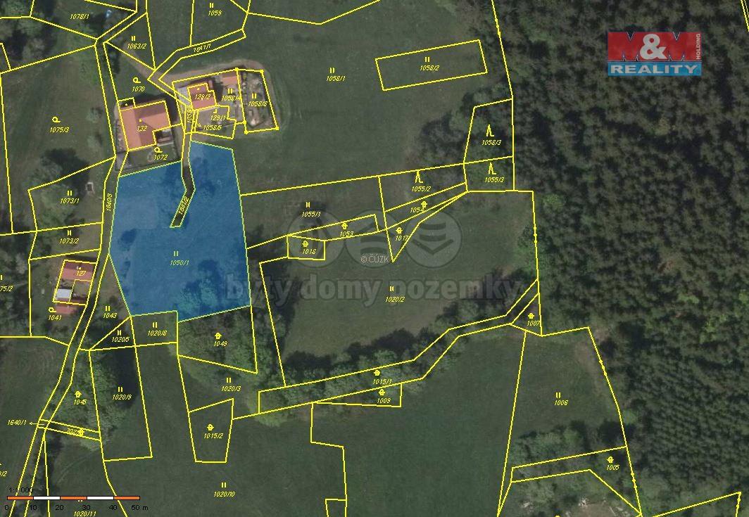 Prodej, pozemek, 2702 m2, Březiny