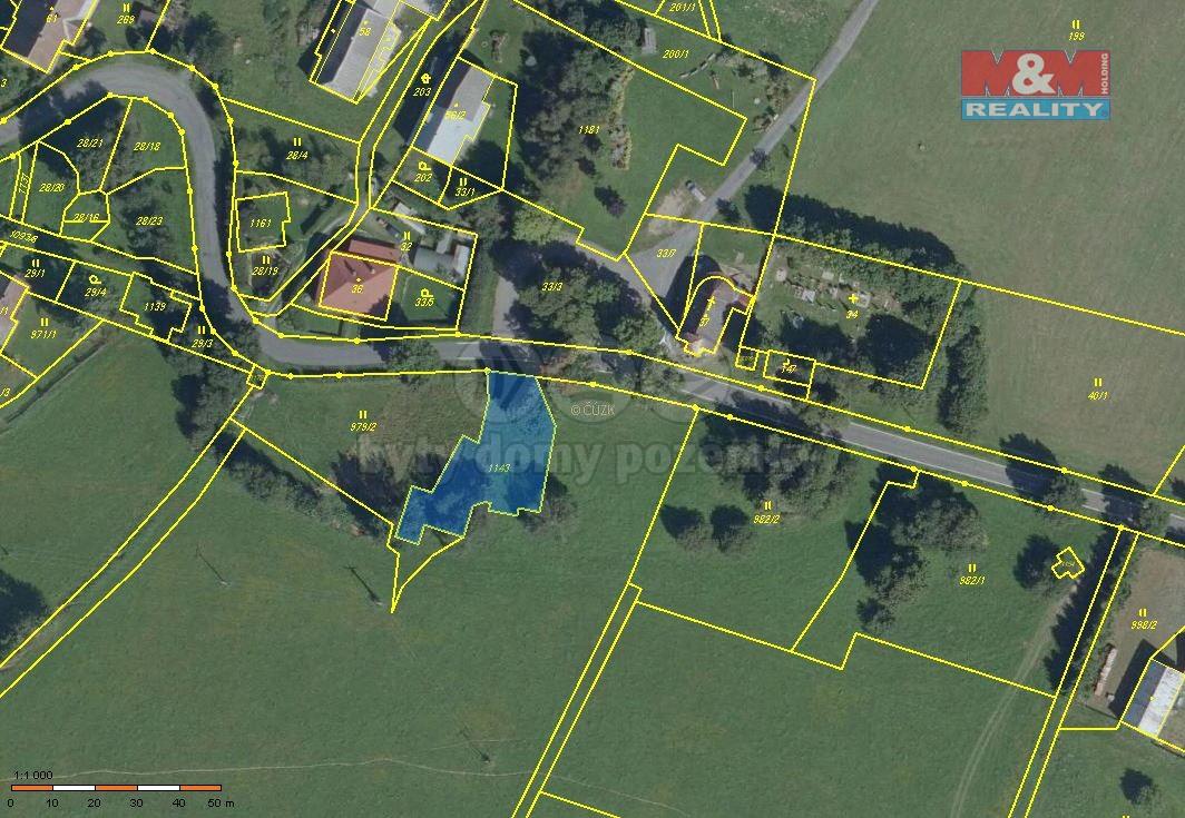 Prodej, pozemek, 756 m2, Horní Město - Dobřečov