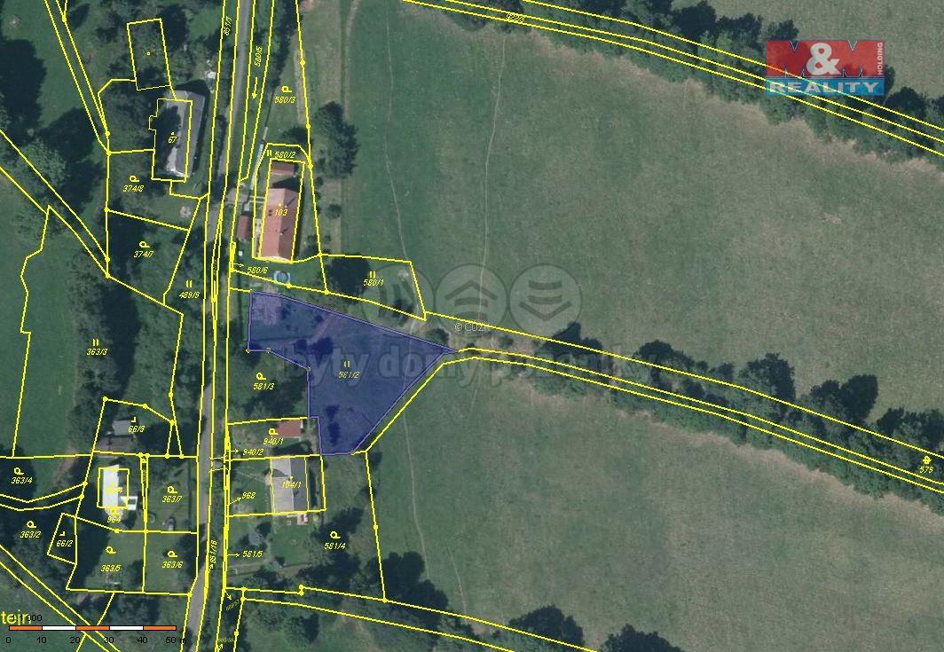 Prodej, pozemek, 1390 m2, Město Albrechtice - Valštejn