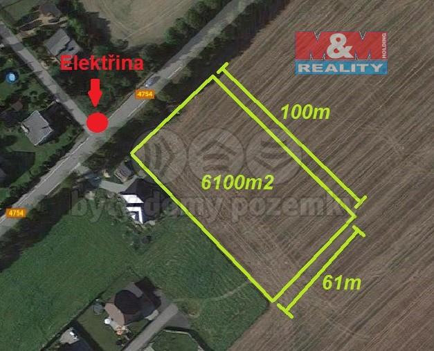Prodej, stavební pozemek, 6100 m2, Dolní Marklovice