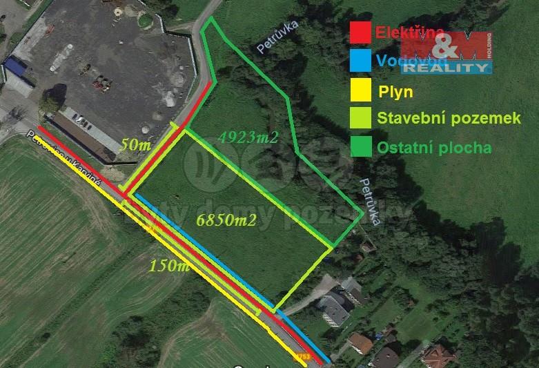 Prodej, stavební pozemek, 11773 m2, Dolní Marklovice