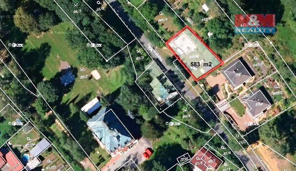 Prodej, stavební parcela, 583 m2, M. Lázně, ul. Dobrovského