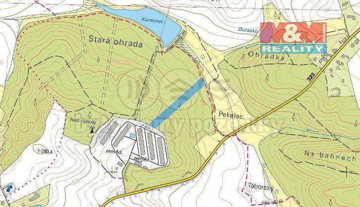 mapa  (Prodej, les, 9308 m2, Kasalice), foto 1/3